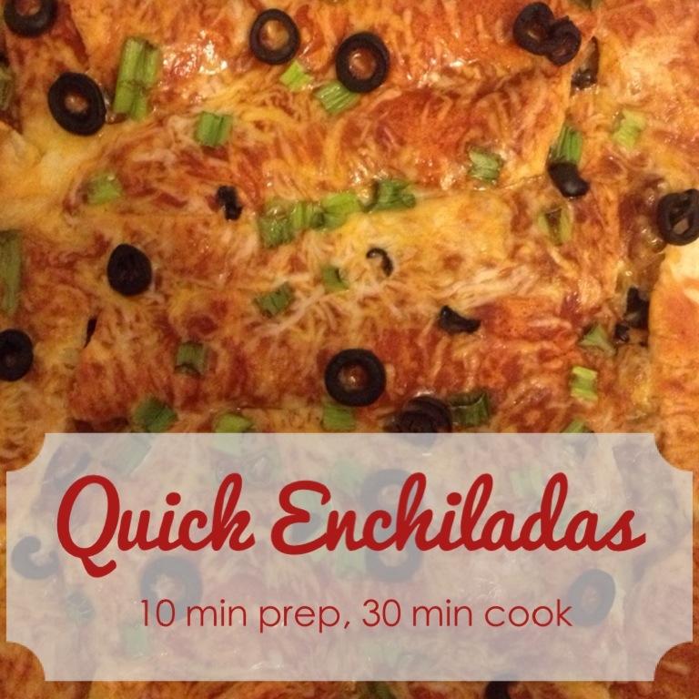 Cook: quick enchiladas