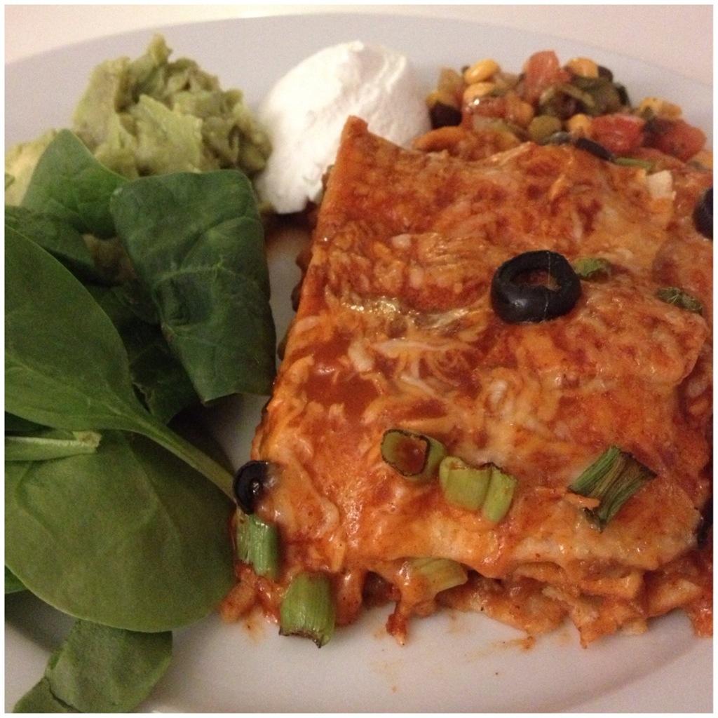 Quick Enchiladas Served